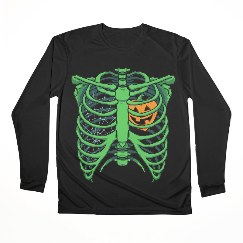 Halloween in my heart - green Women's Longsleeve T-Shirt by Manning Krull's Artist Shop
