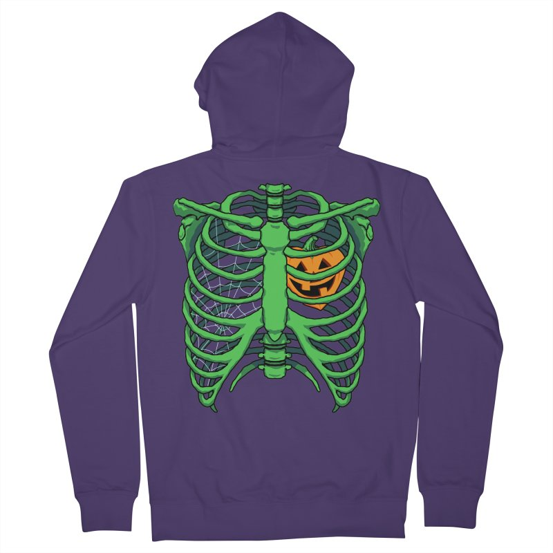 Halloween in my heart - green Women's Zip-Up Hoody by Manning Krull's Artist Shop