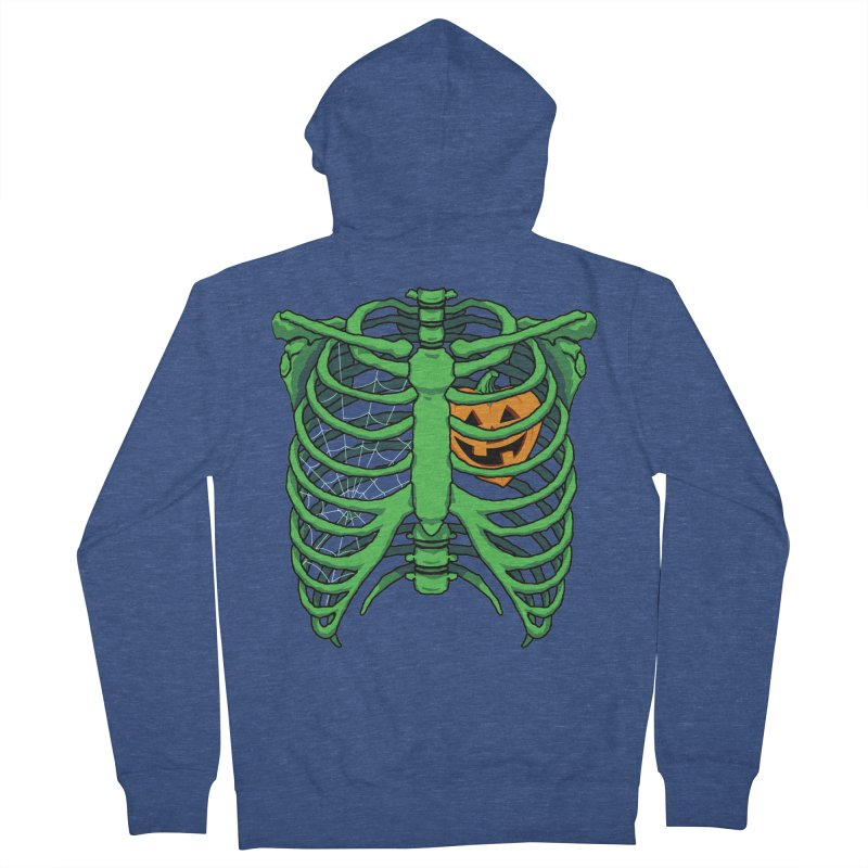 Halloween in my heart - green Men's Zip-Up Hoody by Manning Krull's Artist Shop