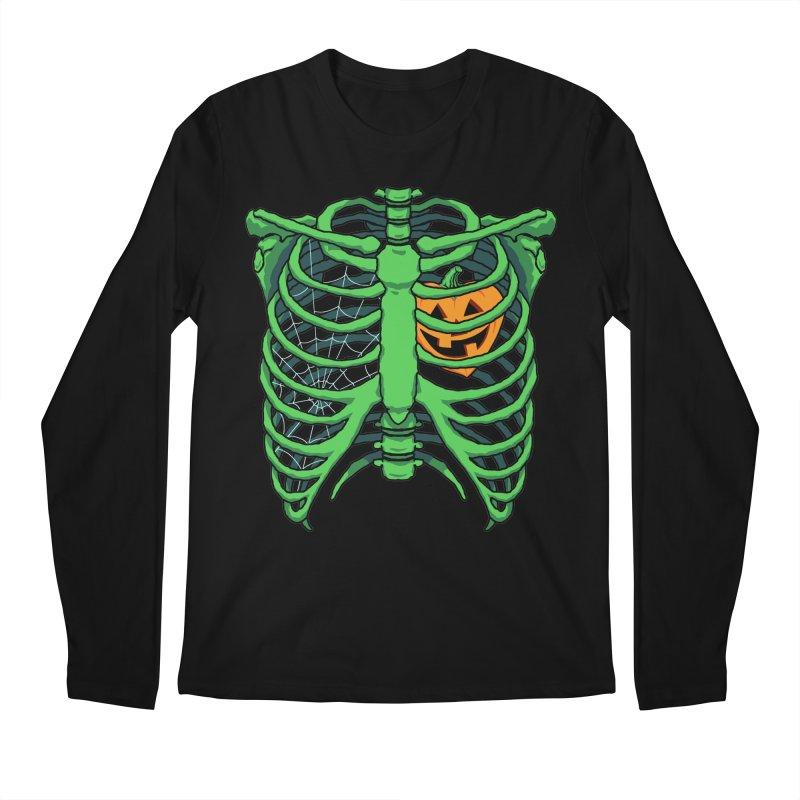 Halloween in my heart - green Men's Longsleeve T-Shirt by Manning Krull's Artist Shop