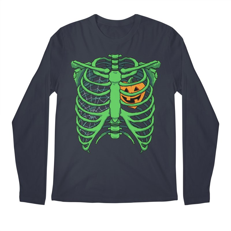 Halloween in my heart - green Men's Longsleeve T-Shirt by Manning Krull's Artist Shop