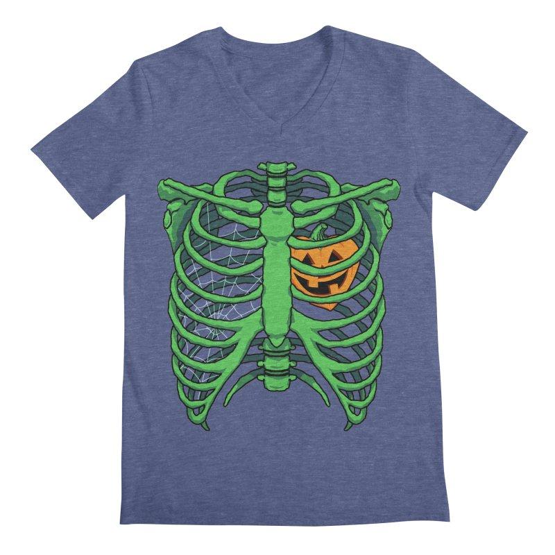 Halloween in my heart - green Men's V-Neck by Manning Krull's Artist Shop