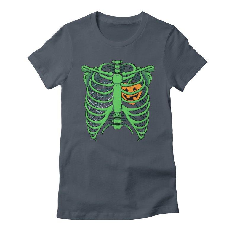 Halloween in my heart - green Women's T-Shirt by Manning Krull's Artist Shop