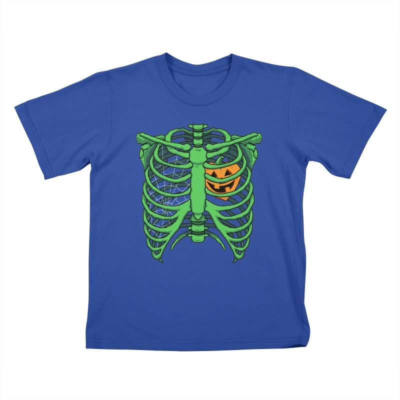 Halloween in my heart - green Kids T-Shirt by Manning Krull's Artist Shop