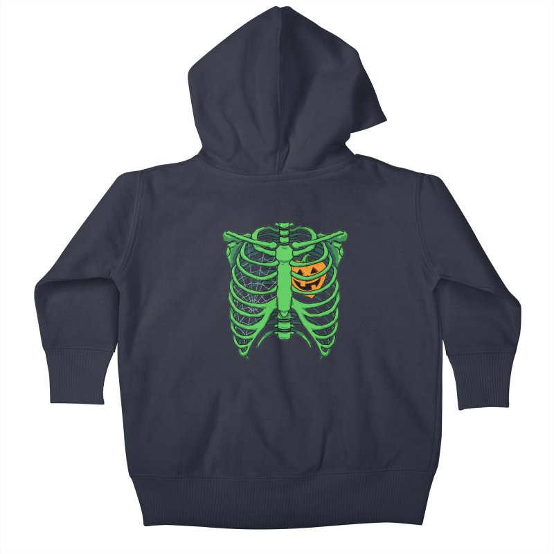 Halloween in my heart - green Kids Baby Zip-Up Hoody by Manning Krull's Artist Shop