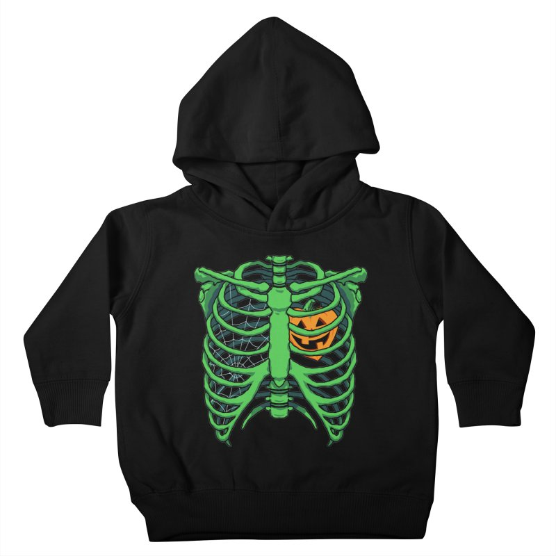 Halloween in my heart - green Kids Toddler Pullover Hoody by Manning Krull's Artist Shop