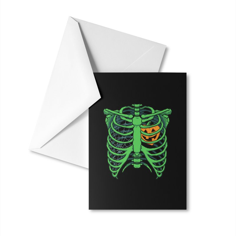Halloween in my heart - green Accessories Greeting Card by Manning Krull's Artist Shop