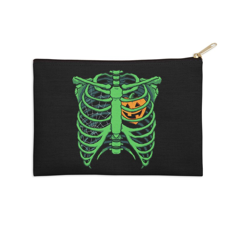 Halloween in my heart - green Accessories Zip Pouch by Manning Krull's Artist Shop
