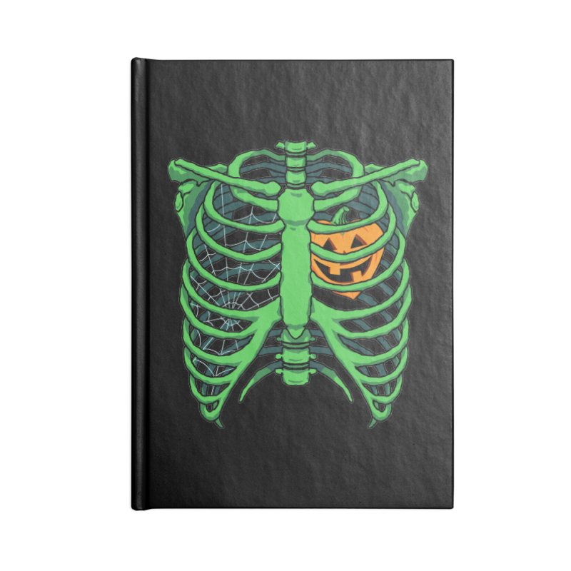 Halloween in my heart - green Accessories Notebook by Manning Krull's Artist Shop