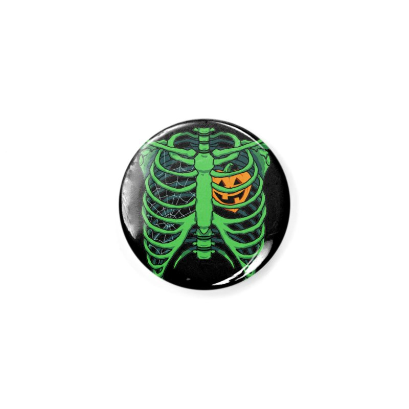 Halloween in my heart - green Accessories Button by Manning Krull's Artist Shop