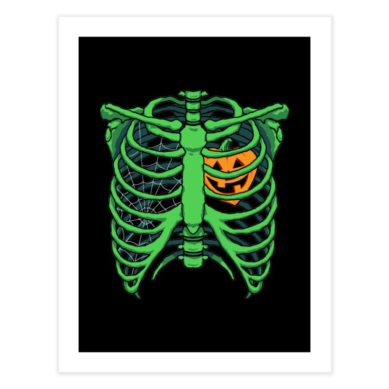 Halloween in my heart - green Home Fine Art Print by Manning Krull's Artist Shop