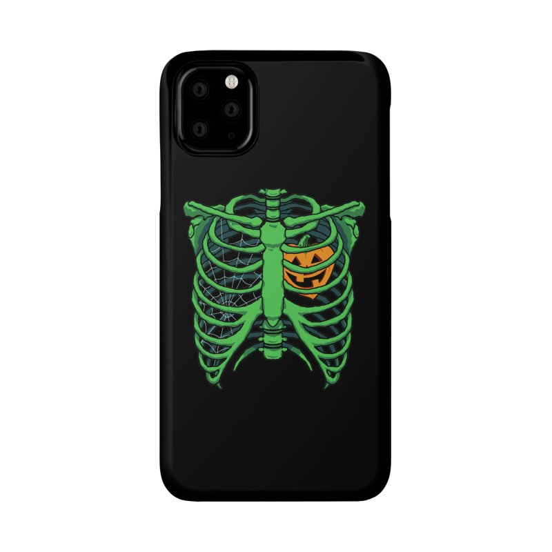 Halloween in my heart - green Accessories Phone Case by Manning Krull's Artist Shop