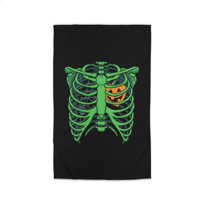Halloween in my heart - green Home Rug by Manning Krull's Artist Shop