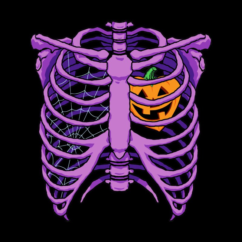Halloween in my heart - purple Men's V-Neck by Manning Krull's Artist Shop