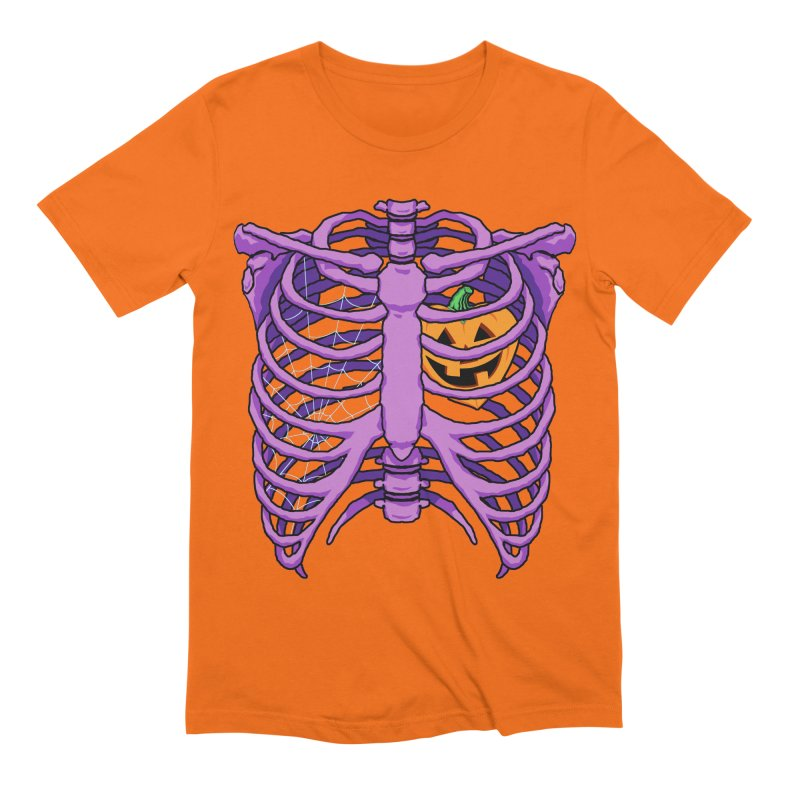 Halloween in my heart - purple Men's T-Shirt by Manning Krull's Artist Shop