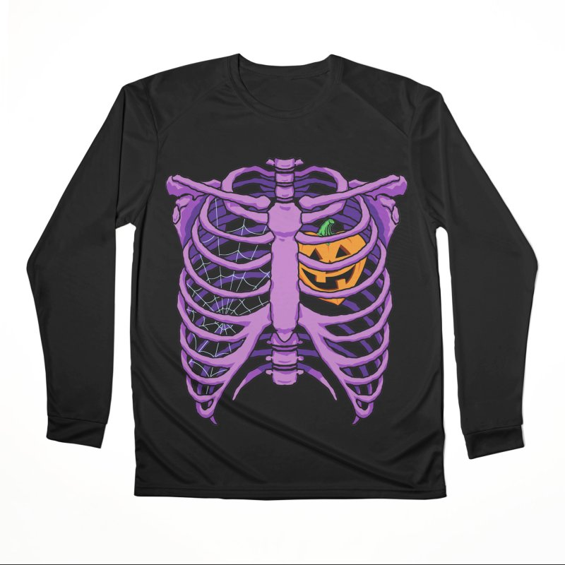 Halloween in my heart - purple Men's Longsleeve T-Shirt by Manning Krull's Artist Shop
