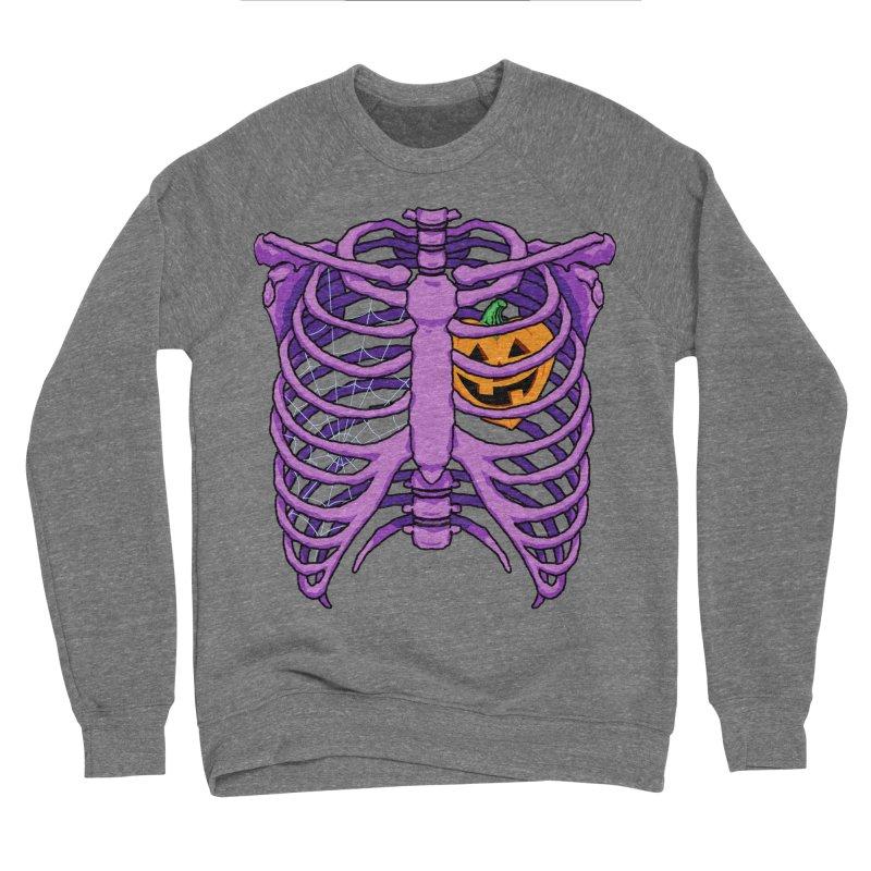 Halloween in my heart - purple Men's Sweatshirt by Manning Krull's Artist Shop