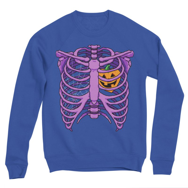 Halloween in my heart - purple Men's Sweatshirt by Manning Krull's Artist Shop