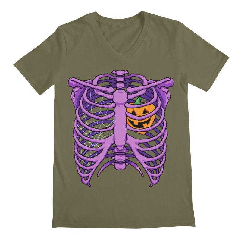 Halloween in my heart - purple Men's V-Neck by Manning Krull's Artist Shop