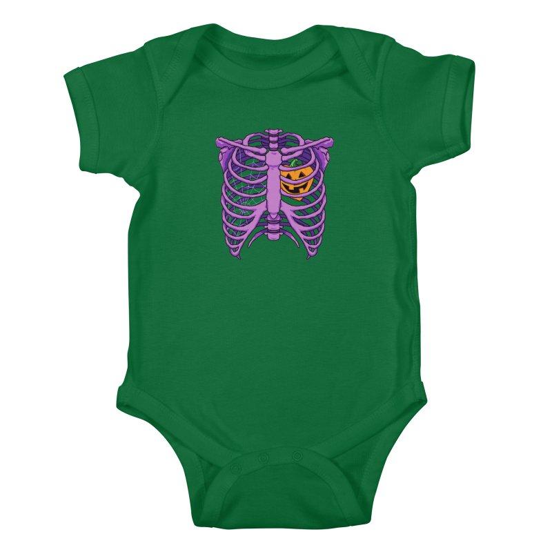 Halloween in my heart - purple Kids Baby Bodysuit by Manning Krull's Artist Shop