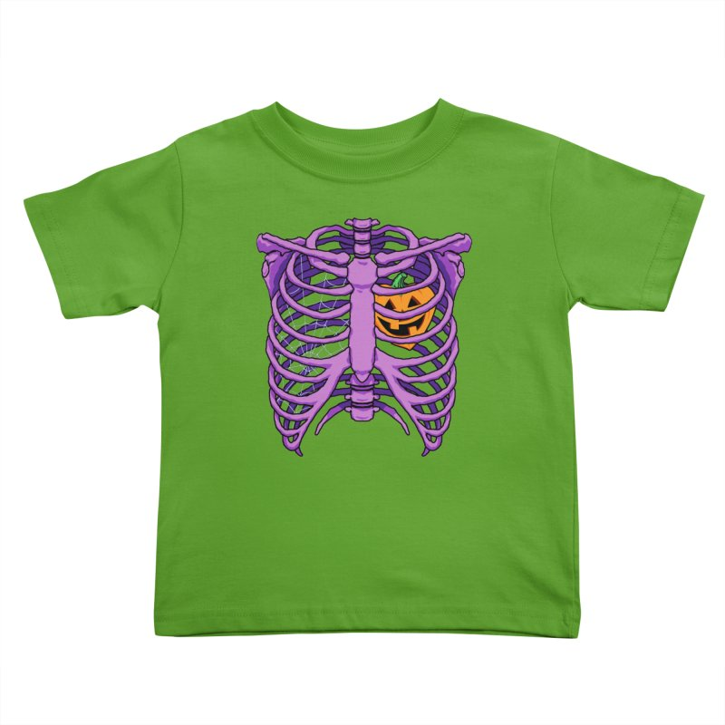 Halloween in my heart - purple Kids Toddler T-Shirt by Manning Krull's Artist Shop
