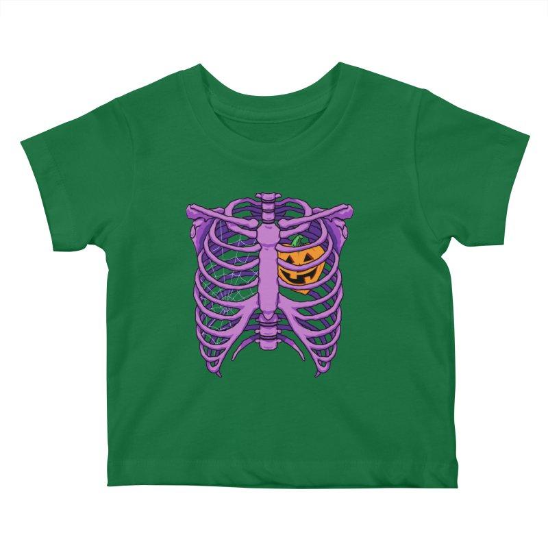 Halloween in my heart - purple Kids Baby T-Shirt by Manning Krull's Artist Shop