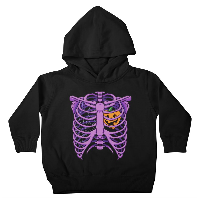 Halloween in my heart - purple Kids Toddler Pullover Hoody by Manning Krull's Artist Shop