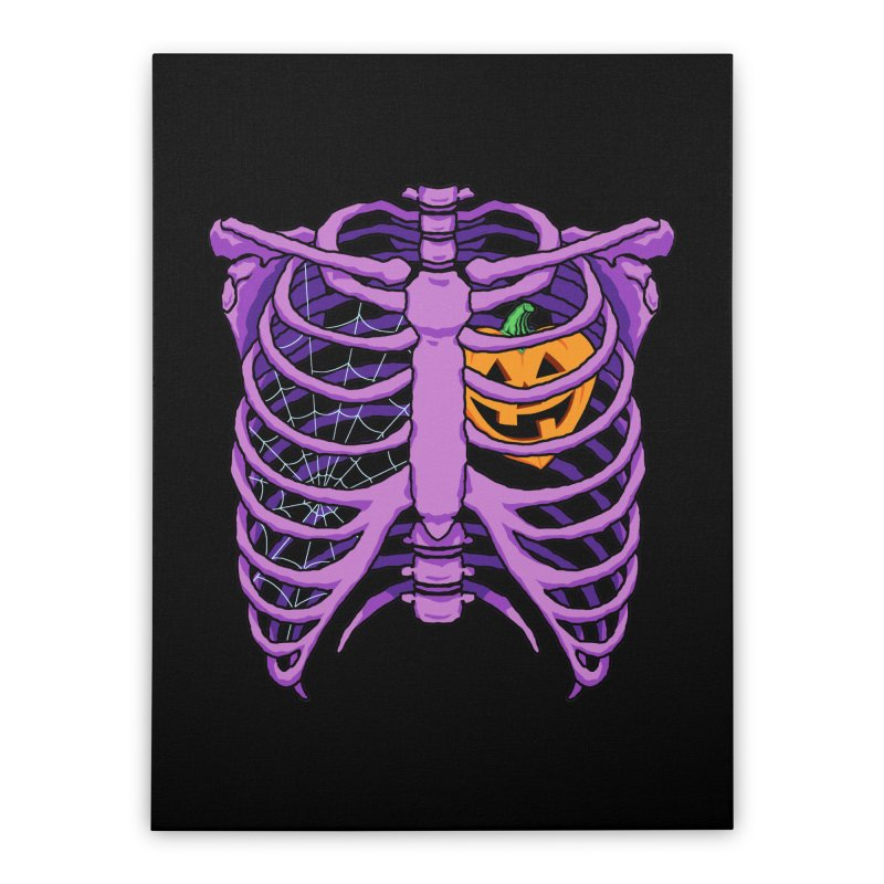 Halloween in my heart - purple Home Stretched Canvas by Manning Krull's Artist Shop