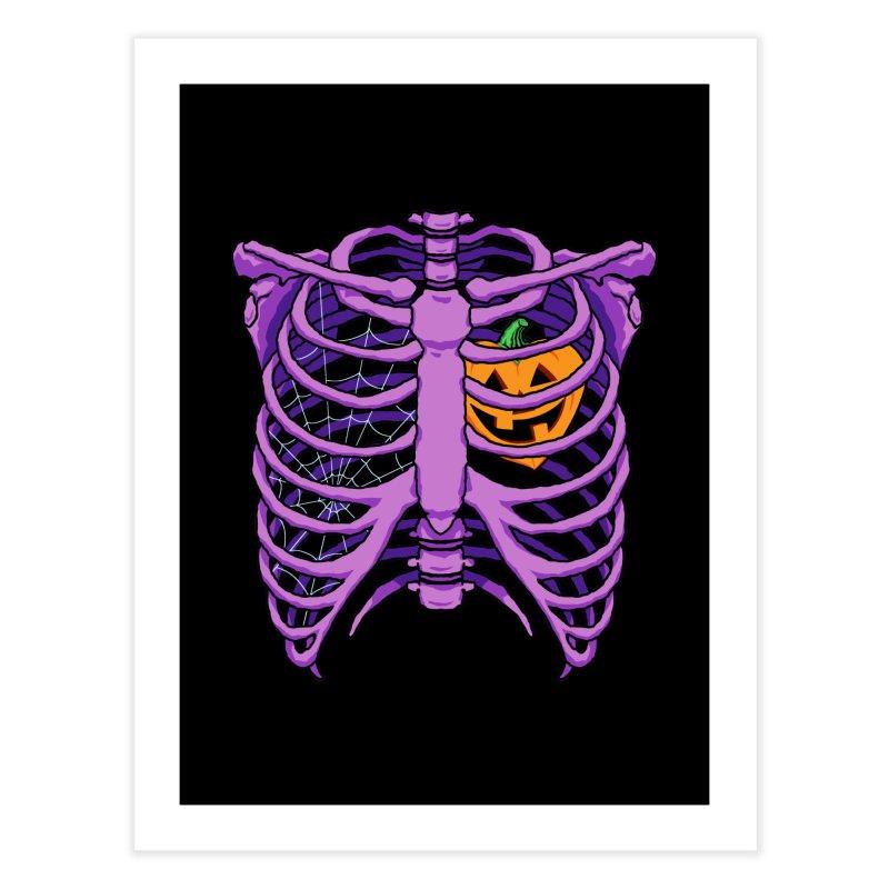 Halloween in my heart - purple Home Fine Art Print by Manning Krull's Artist Shop