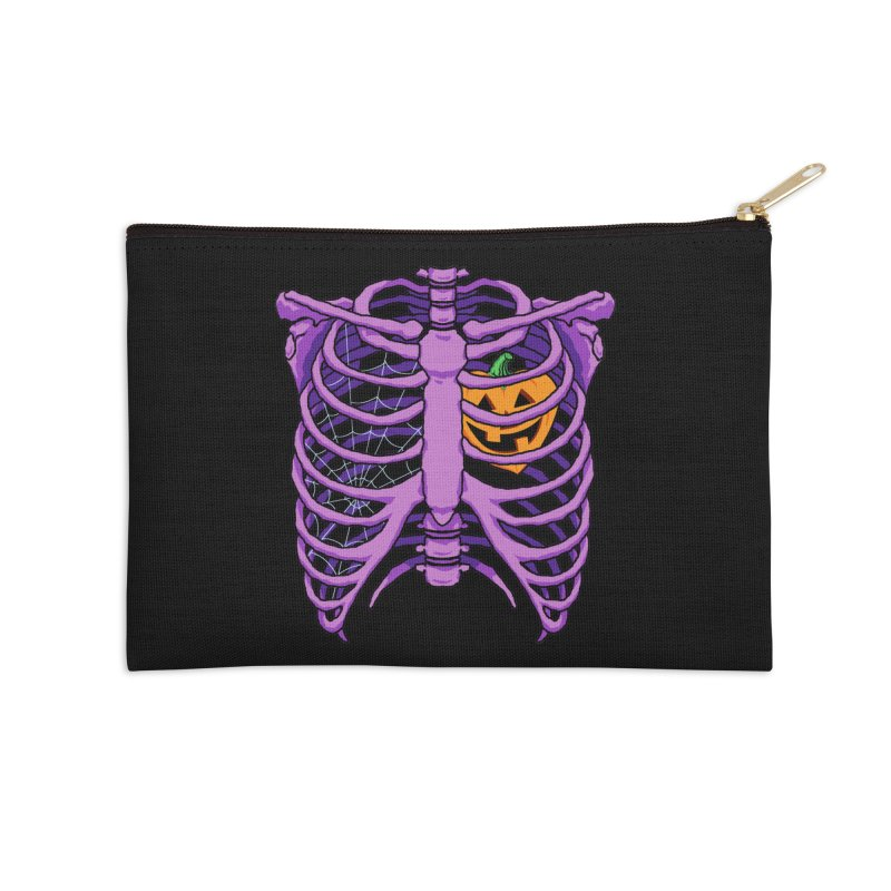 Halloween in my heart - purple Accessories Zip Pouch by Manning Krull's Artist Shop
