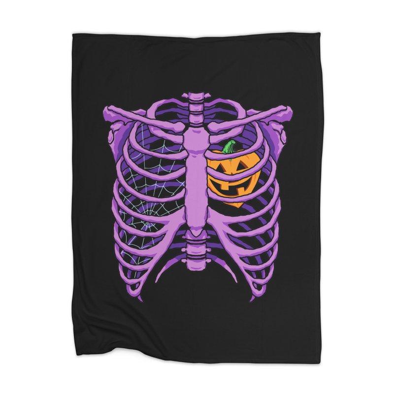 Halloween in my heart - purple Home Blanket by Manning Krull's Artist Shop