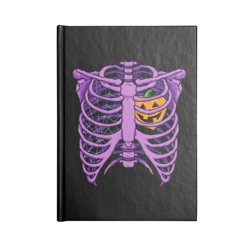 Halloween in my heart - purple Accessories Notebook by Manning Krull's Artist Shop