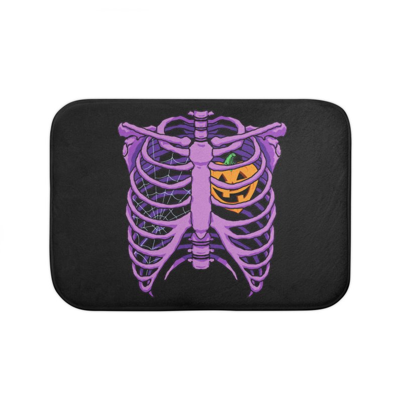 Halloween in my heart - purple Home Bath Mat by Manning Krull's Artist Shop