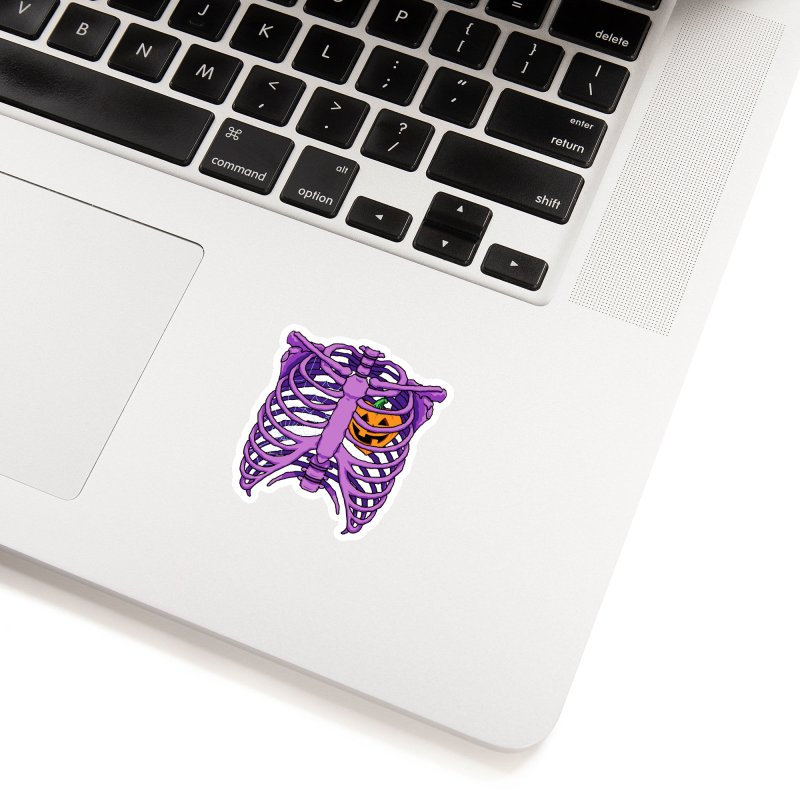 Halloween in my heart - purple Accessories Sticker by Manning Krull's Artist Shop