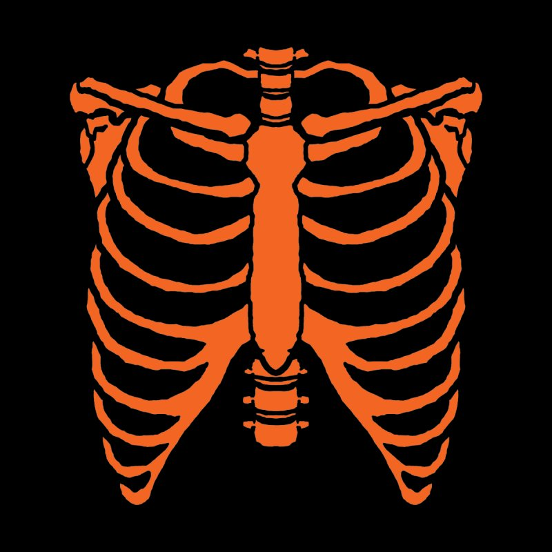 Halloween orange ribcage Men's Sweatshirt by Manning Krull's Artist Shop