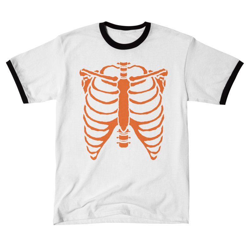 Halloween orange ribcage Men's T-Shirt by Manning Krull's Artist Shop