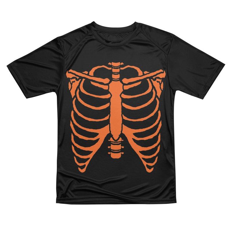 Halloween orange ribcage Men's T-Shirt by Manning Krull's Artist Shop
