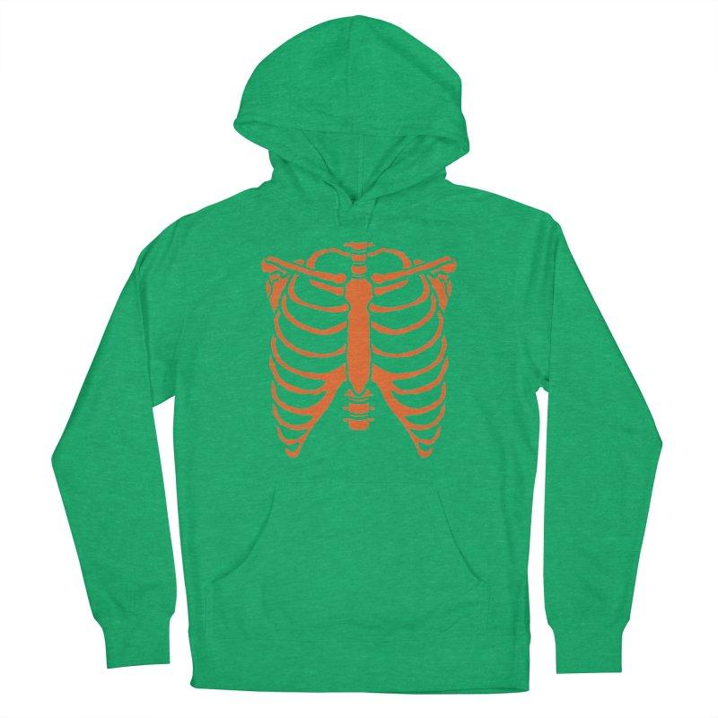 Halloween orange ribcage Women's Pullover Hoody by Manning Krull's Artist Shop