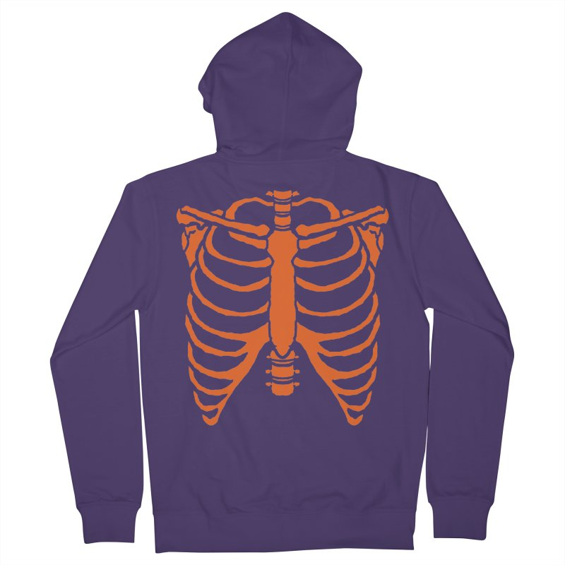 Halloween orange ribcage Women's Zip-Up Hoody by Manning Krull's Artist Shop