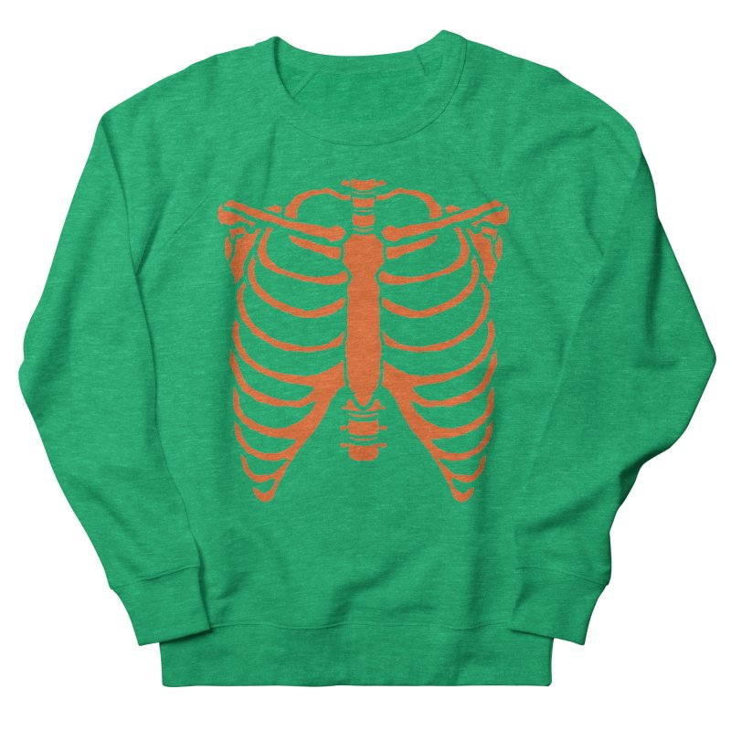 Halloween orange ribcage Women's Sweatshirt by Manning Krull's Artist Shop