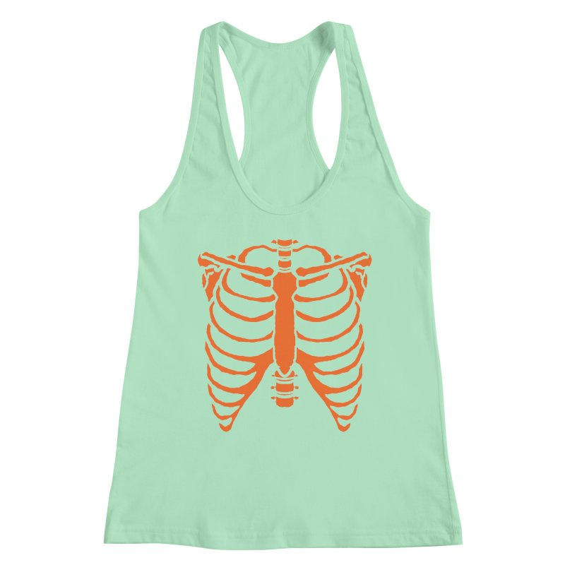 Halloween orange ribcage Women's Tank by Manning Krull's Artist Shop