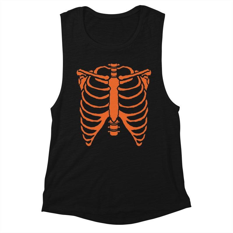Halloween orange ribcage Women's Tank by Manning Krull's Artist Shop