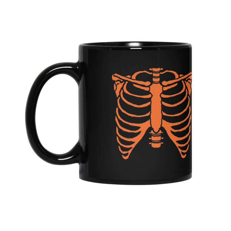Halloween orange ribcage Accessories Mug by Manning Krull's Artist Shop