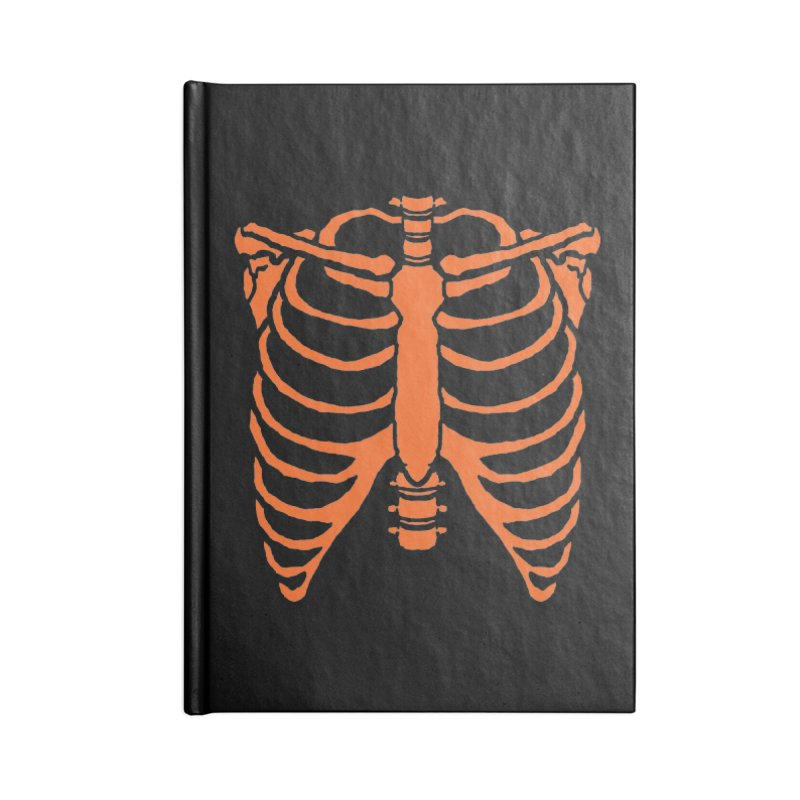 Halloween orange ribcage Accessories Notebook by Manning Krull's Artist Shop