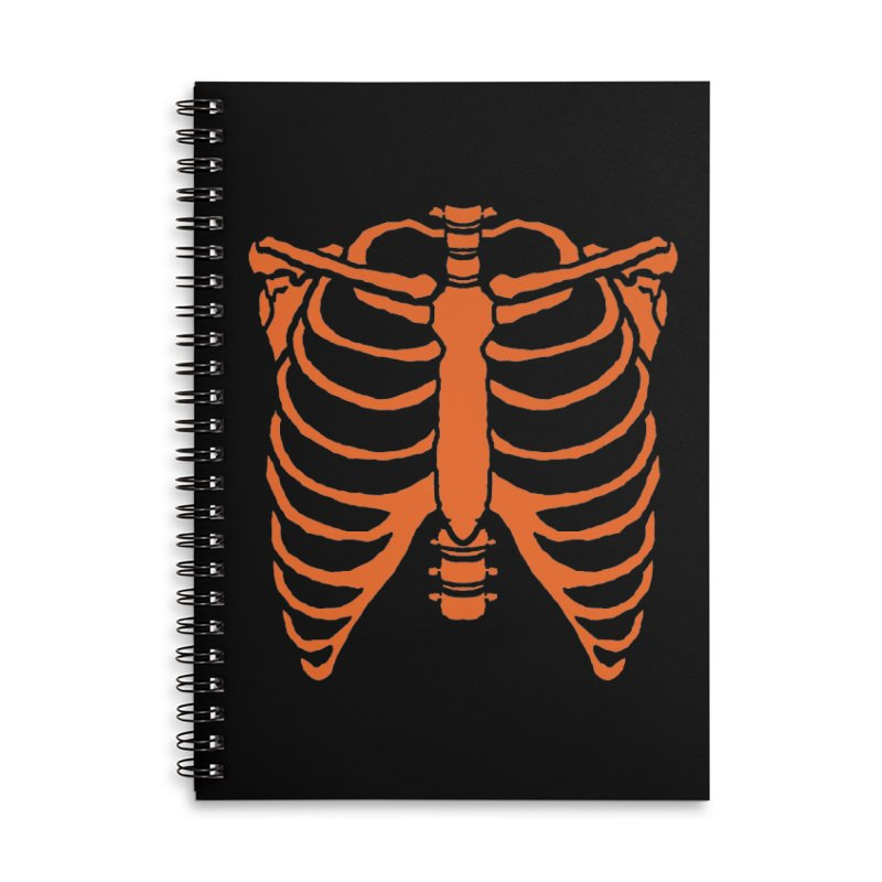 Halloween orange ribcage Accessories Notebook by Manning Krull's Artist Shop
