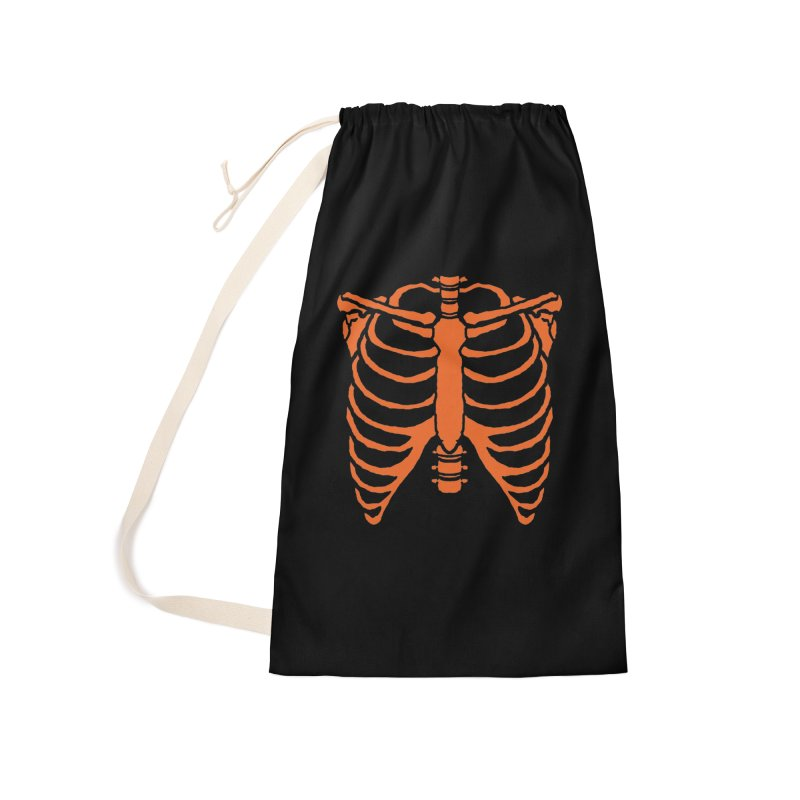 Halloween orange ribcage Accessories Bag by Manning Krull's Artist Shop