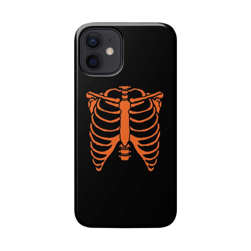 Halloween orange ribcage Accessories Phone Case by Manning Krull's Artist Shop