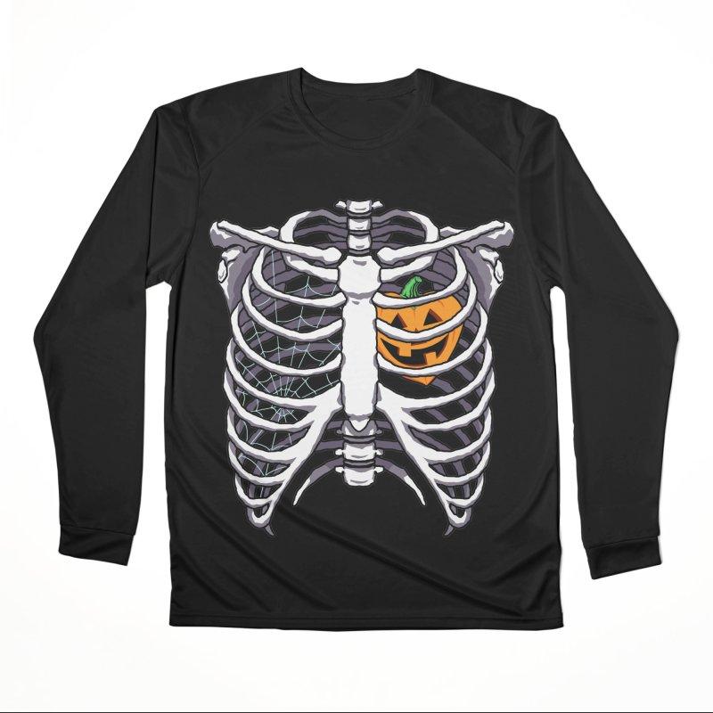 Halloween in my heart - white Women's Longsleeve T-Shirt by Manning Krull's Artist Shop