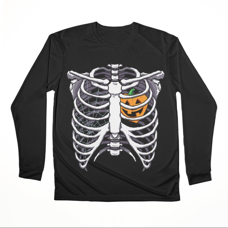 Halloween in my heart - white Men's Longsleeve T-Shirt by Manning Krull's Artist Shop