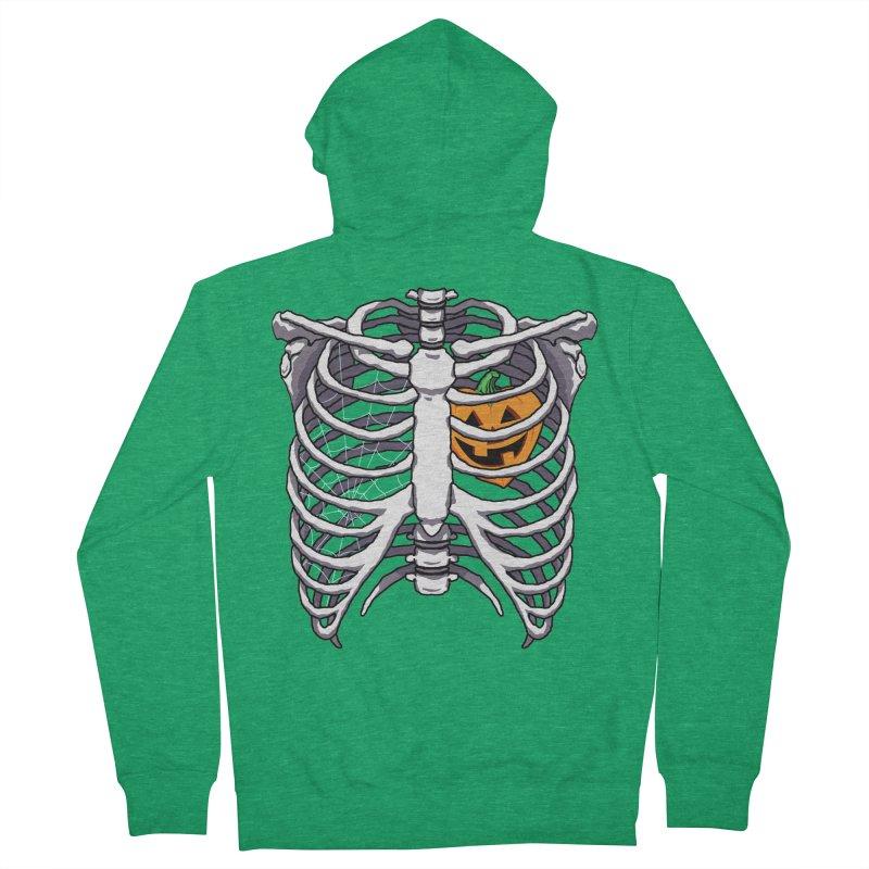 Halloween in my heart - white Men's Zip-Up Hoody by Manning Krull's Artist Shop
